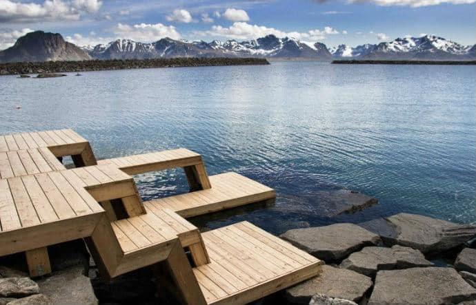 סאונה נורווגית מרהיבה