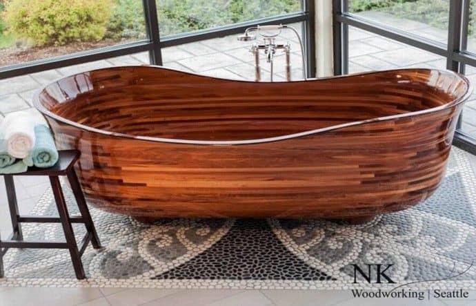 עיצוב מעץ - אמבטיה