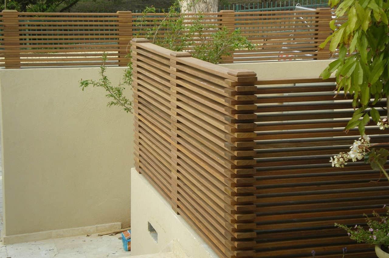 גדר לגינה מעץ איפאה