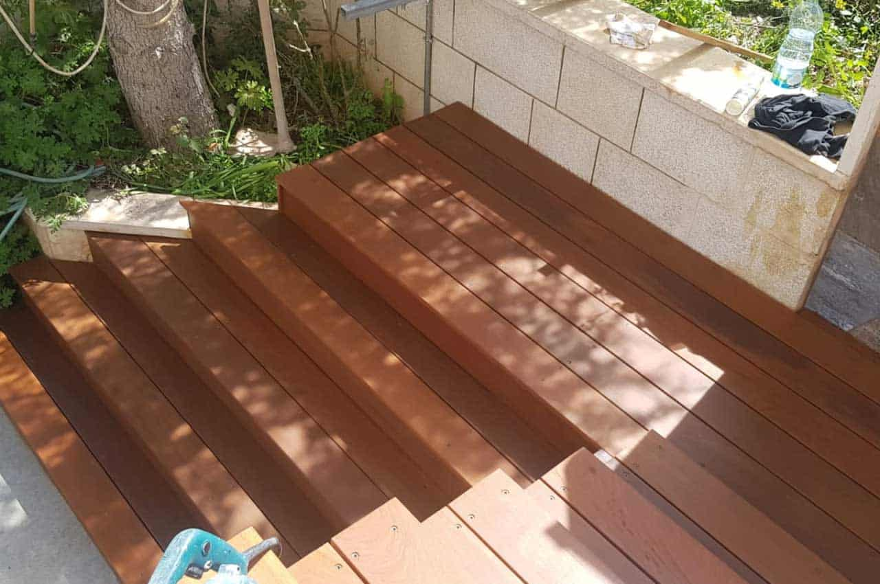 מדרגות עץ איפאה טבאקו