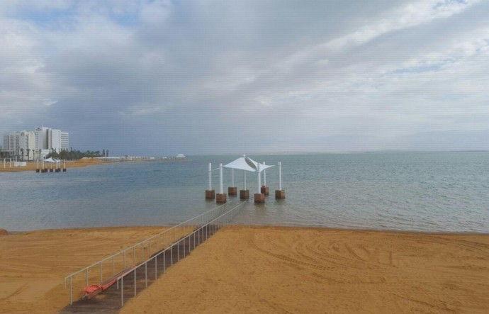הגבהת חופים ים המלח