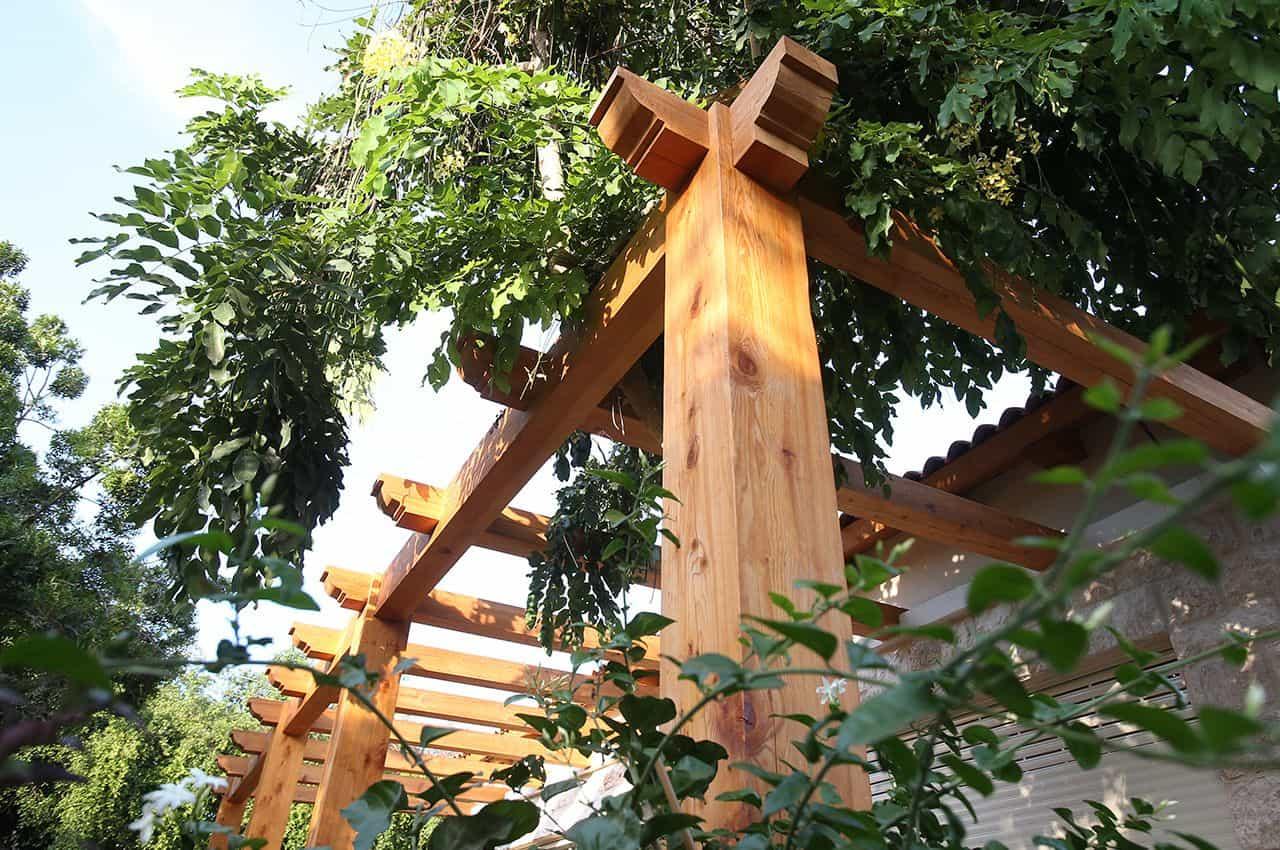פרגולה מעץ המלוק קנדי