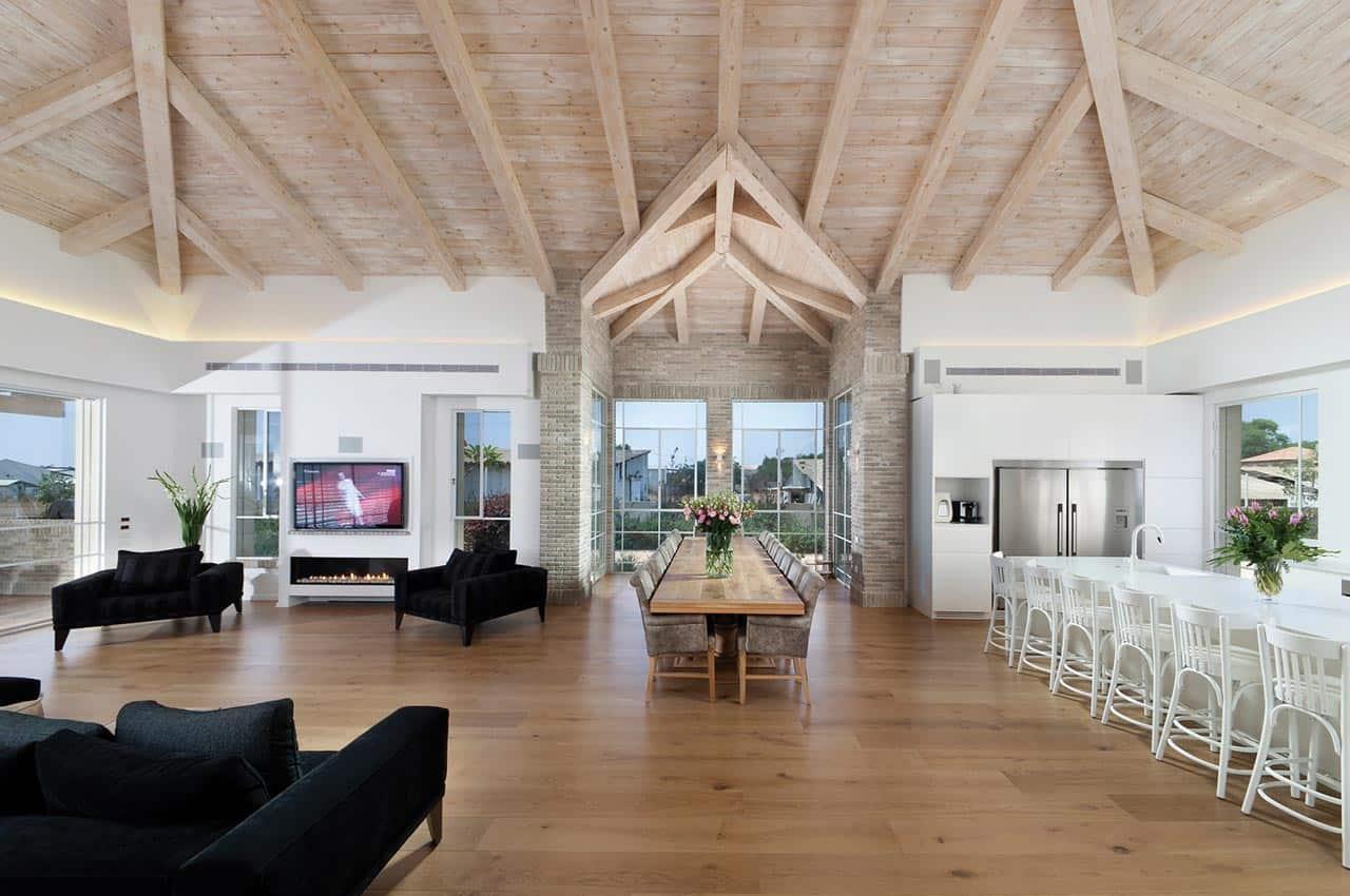 חיפוי תקרה לבן מעץ דוגלס פייר