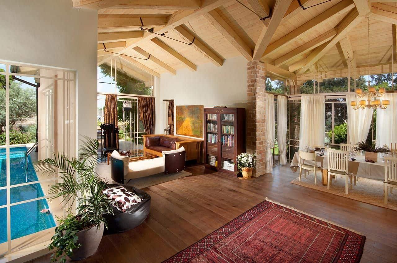 חיפוי תקרה לבית מעץ דוגלס פייר