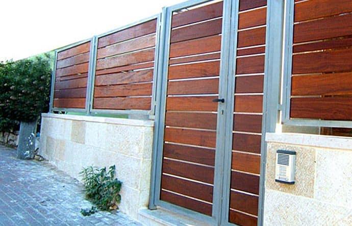 גדר ושער מעץ איפאה